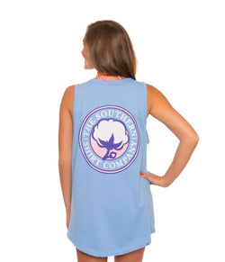 Women's Tee Shirts - Jenny Tank In Maui Blue By The Southern Shirt Co.