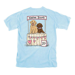 Women's Tee Shirts - Kissing Booth Tee In Chambray By Lily Grace - FINAL SALE