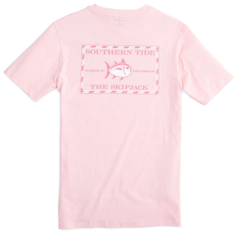 Ladies Original Skipjack Tee Shirt in Light Pink by Southern Tide