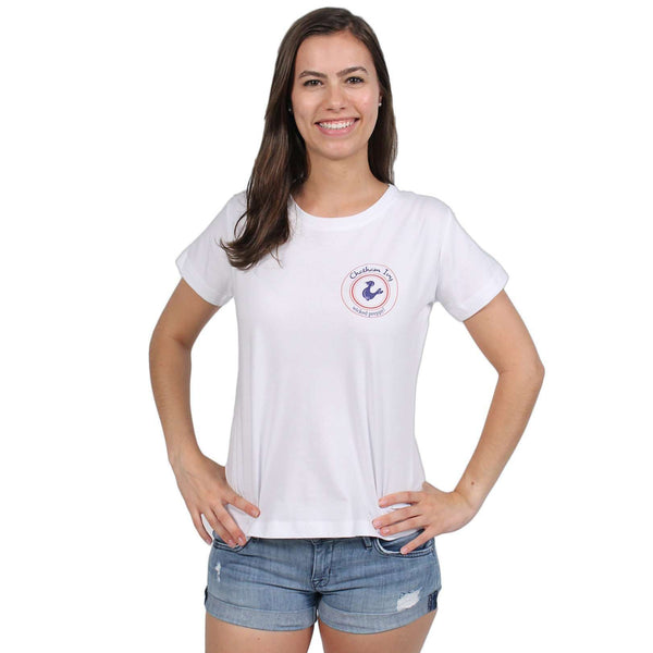 Ladies Wicked Beach Bike Tee in White by Chatham Ivy
