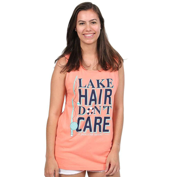 Lake Hair Don't Care Tank in Coral by Jadelynn Brooke