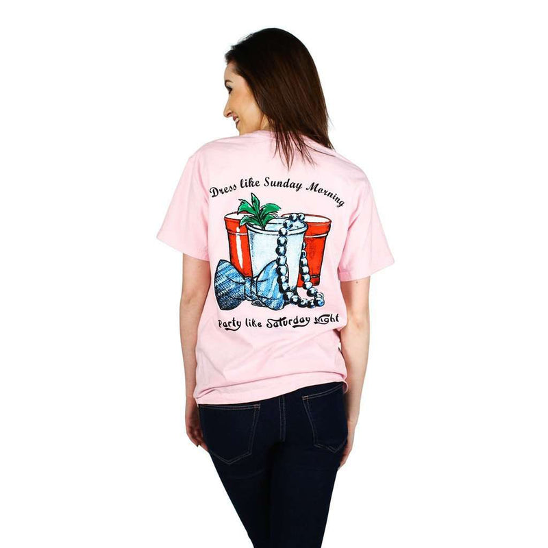 Women's Tee Shirts - Life Advice Tee In Blossom Pink By Country Club Prep - FINAL SALE