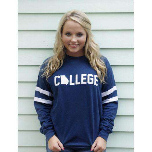 Long Sleeve Georgia College Jersey by Jadelynn Brooke - FINAL SALE