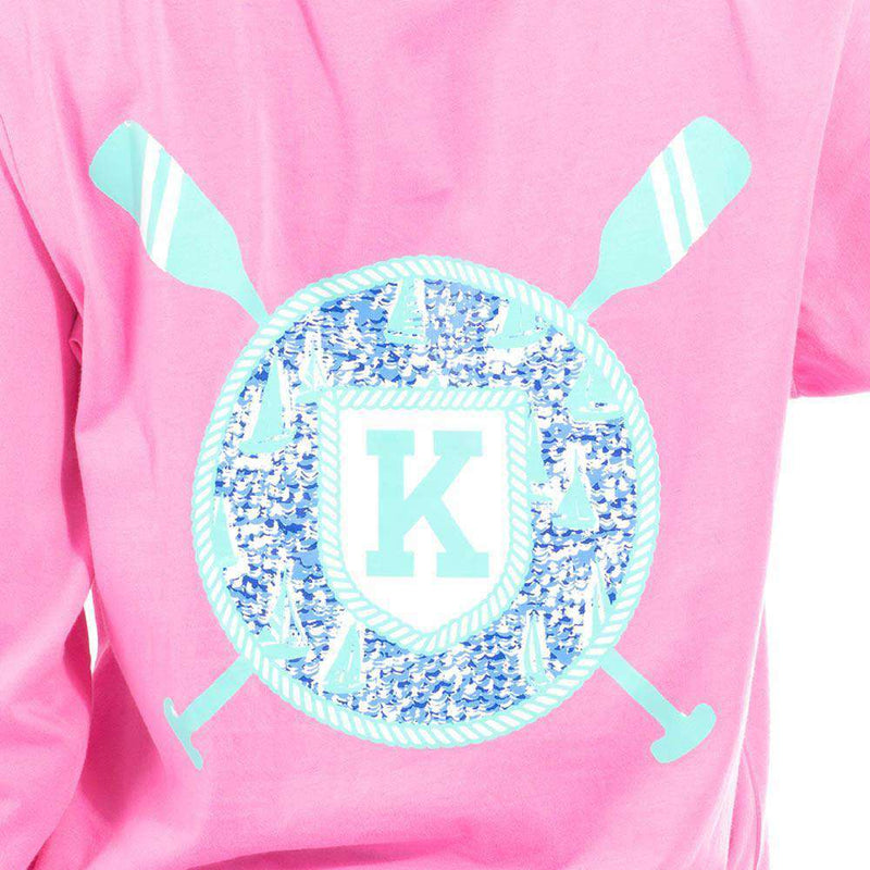 Women's Tee Shirts - Long Sleeve Sailor's Delight Pocket Tee Shirt In Pink By Krass & Co. - FINAL SALE