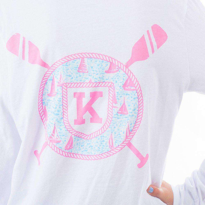 Women's Tee Shirts - Long Sleeve Sailor's Delight Pocket Tee Shirt In White By Krass & Co. - FINAL SALE