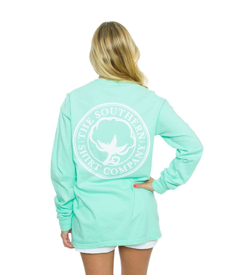 Long Sleeve Seaside Logo Tee in Island Reef Green by The Southern Shirt Co.