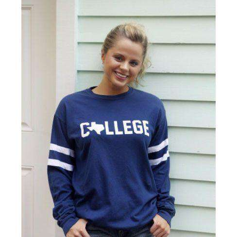 Long Sleeve Texas College Jersey by Jadelynn Brooke