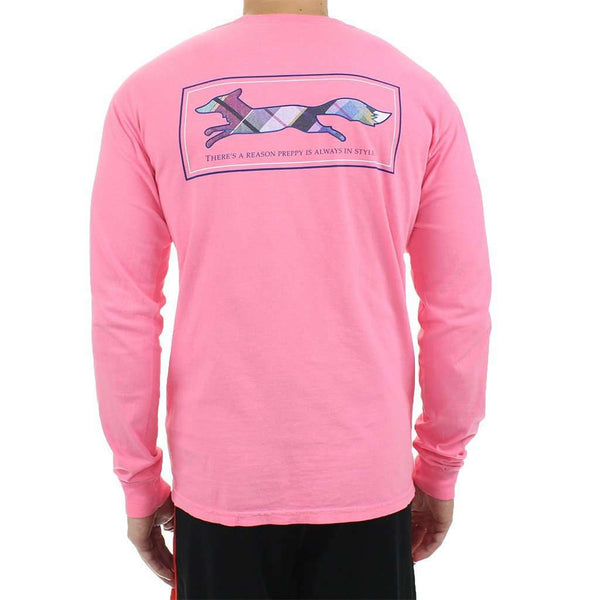 Women's Tee Shirts - Longshanks Long Sleeve Tee Shirt In Pink By Country Club Prep