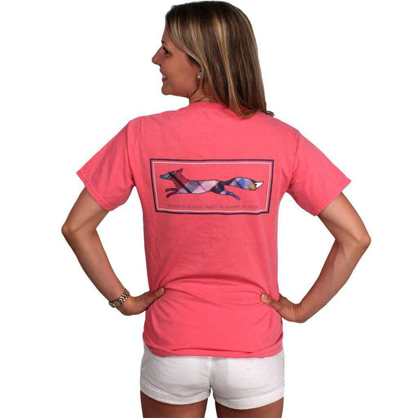 Women's Tee Shirts - Longshanks Tee Shirt In Watermelon By Country Club Prep