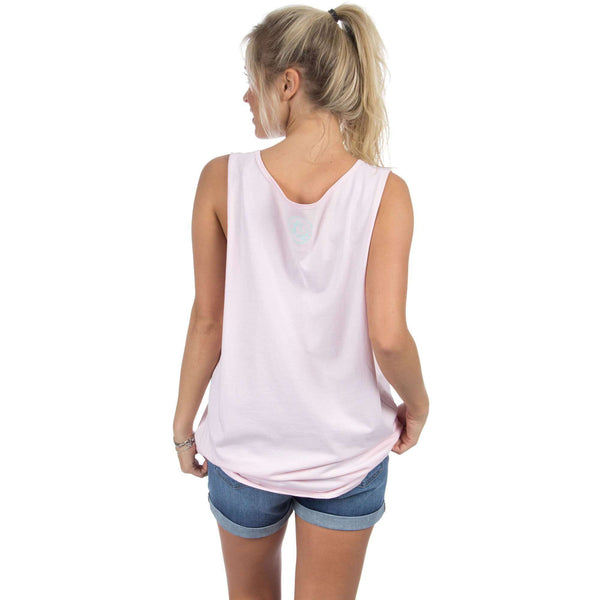 Louisiana Lovely State Pocket Tank Top in Pink by Lauren James  - 2