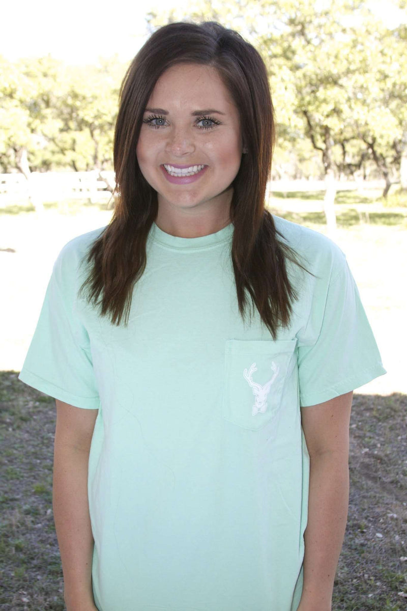 Women's Tee Shirts - Lucky Enough Tee In Island Reef By Jadelynn Brooke