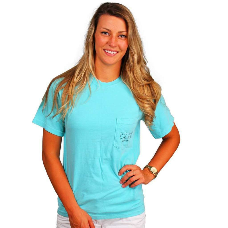 Women's Tee Shirts - Made In Mississippi Unisex Short Sleeve Tee Shirt In Mint By The Fraternity Collection - FINAL SALE