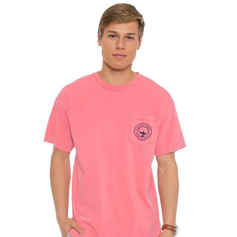 Magnolia Bayou Tee in Watermelon by The Southern Shirt Co.