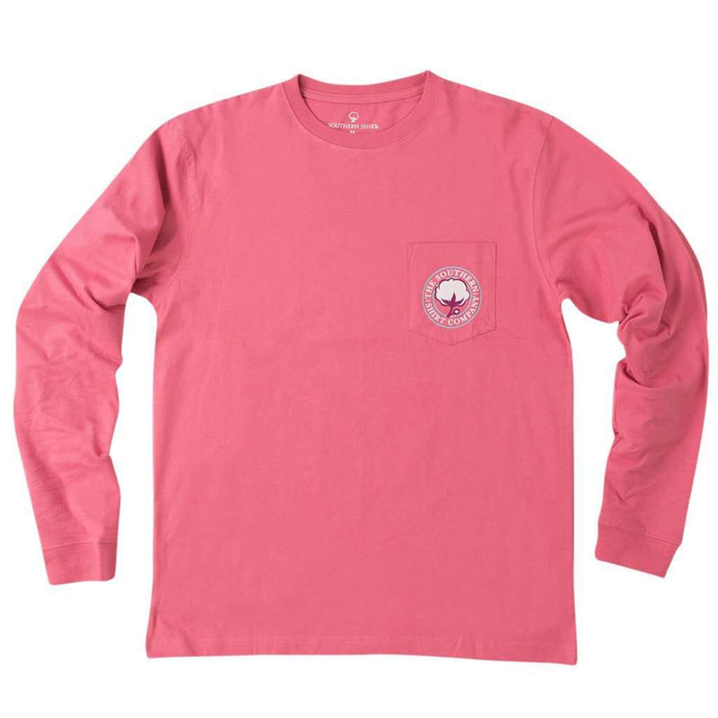 Mandala Logo Long Sleeve Tee Shirt in Rapture Rose by The Southern Shirt Co.