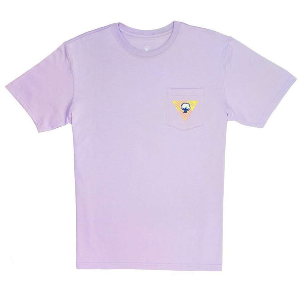 Women's Tee Shirts - Mirage Logo Tee In Pastel Lilac By The Southern Shirt Co. - FINAL SALE