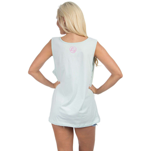 Mississippi Lovely State Pocket Tank Top in Mint by Lauren James - FINAL SALE