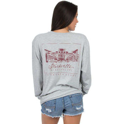 Women s Tee Shirts - Mississippi State Long Sleeve Stadium Tee In Heather  Grey By Lauren James 9508b0041