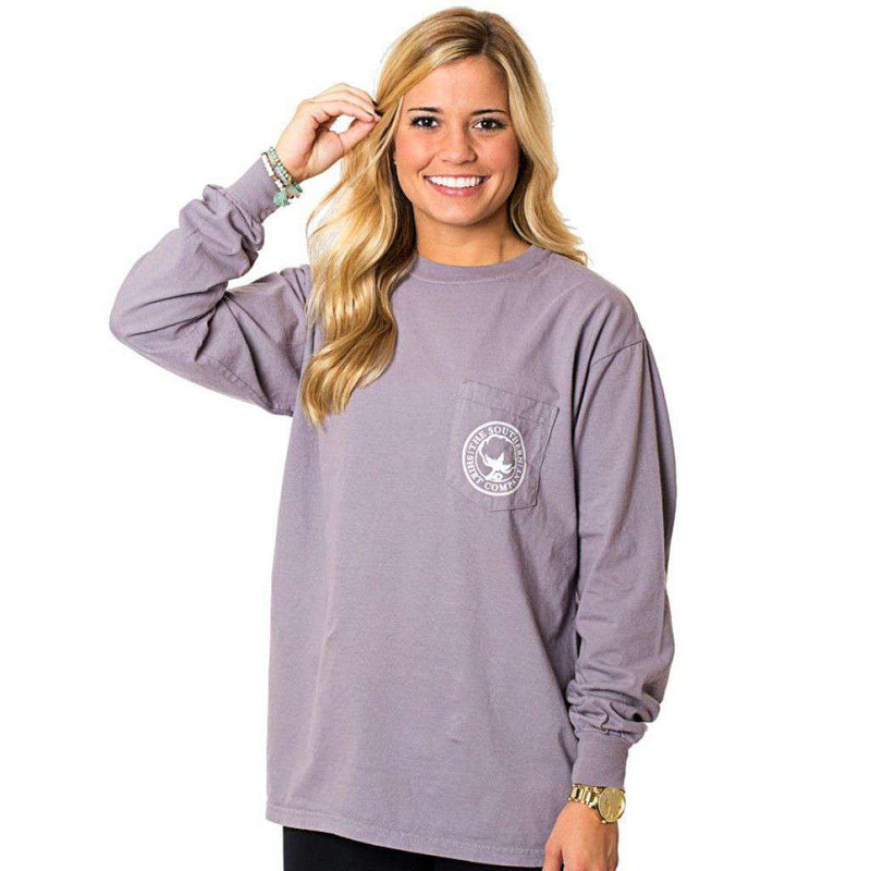 Mountain Weekend Long Sleeve Tee in Grey Ridge by The Southern Shirt Co. - Country Club Prep