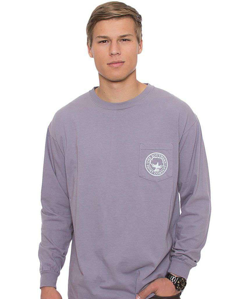 Women's Tee Shirts - Mountain Weekend Long Sleeve Tee In Grey Ridge By The Southern Shirt Co.