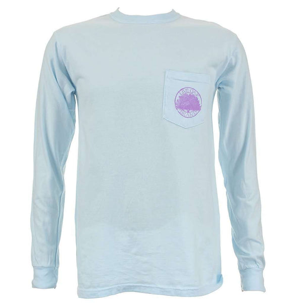Never Out Of Style Long Sleeve Tee in Chalky Blue by Live Oak - FINAL SALE