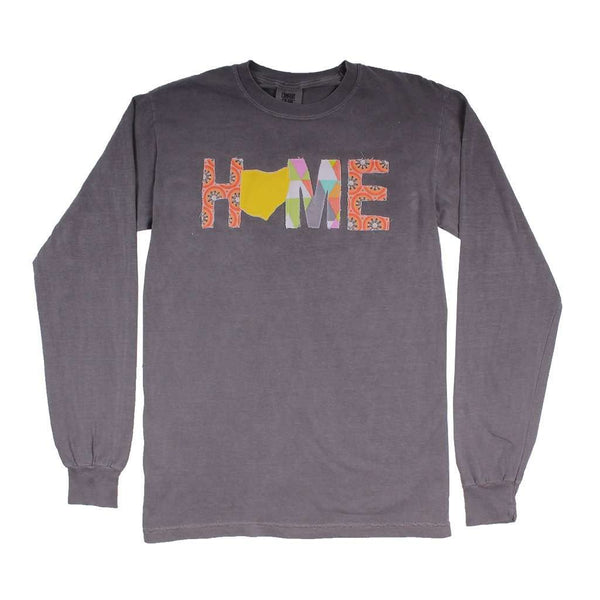 Women's Tee Shirts - Ohio Home Long Sleeve Tee In Gray By Southern Roots