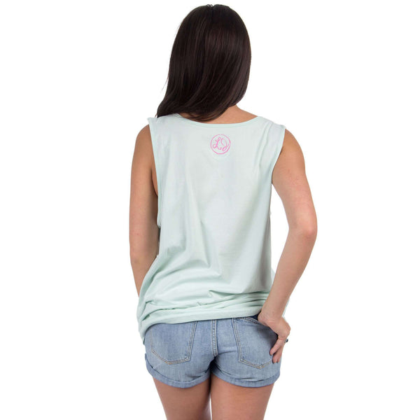 Oklahoma Lovely State Pocket Tank Top in Mint by Lauren James - FINAL SALE