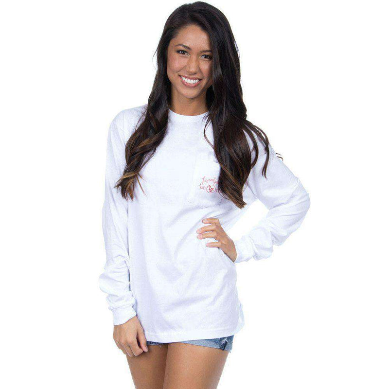 Women's Tee Shirts - Ole Miss Perfect Pairing Long Sleeve Tee In White By Lauren James