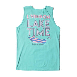 Women's Tee Shirts - On Lake Time Tank In Chalky Mint By Jadelynn Brooke