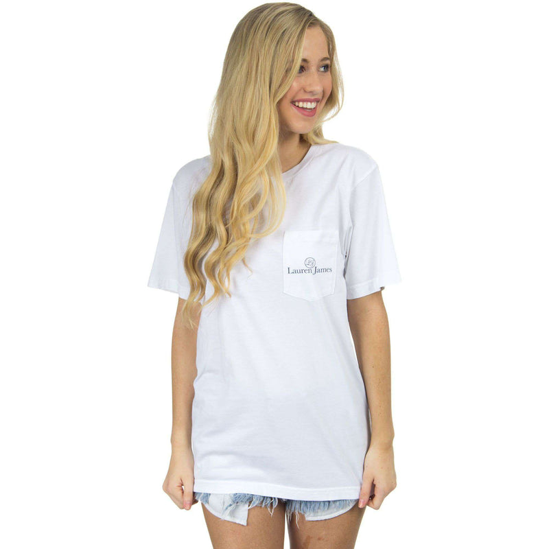 On the Lake Sweet Life Tee in White by Lauren James - FINAL SALE