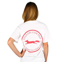 Women's Tee Shirts - Original Logo Tee Shirt In White By Country Club Prep - FINAL SALE