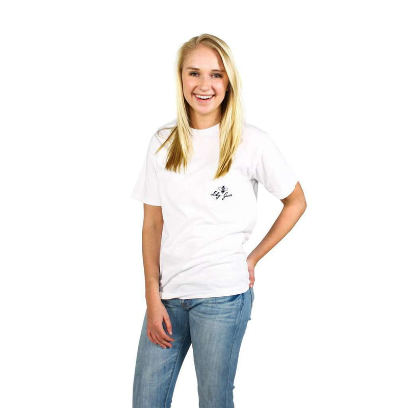 Women's Tee Shirts - Overdressed Pocket Tee In White By Lily Grace