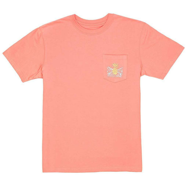Painted Pineapple Tee in Peach Amber by The Southern Shirt Co. - FINAL SALE