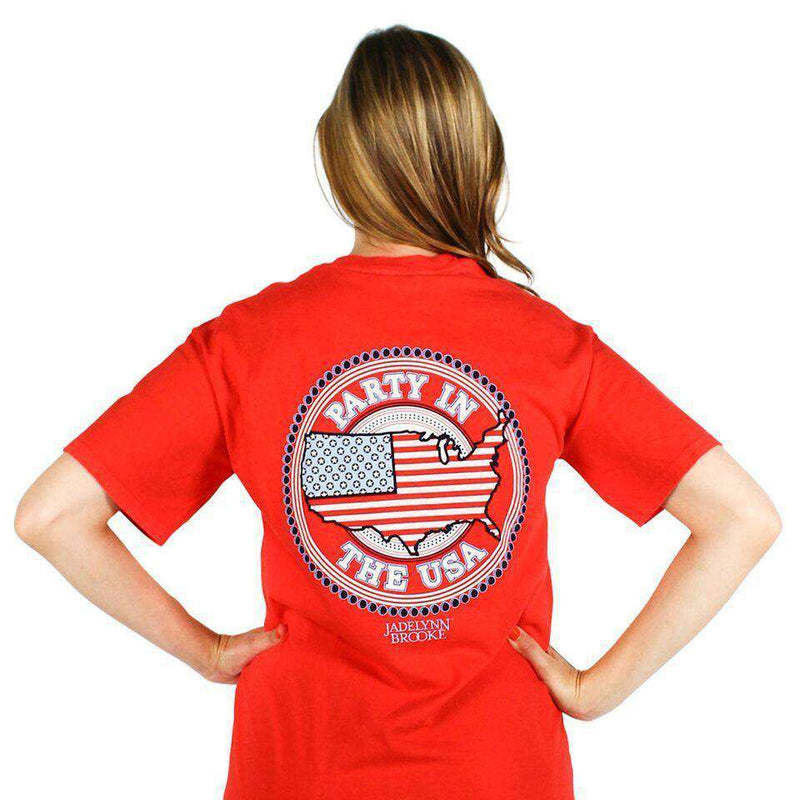 Women's Tee Shirts - Party In The USA Tee In Red By Jadelynn Brooke - FINAL SALE