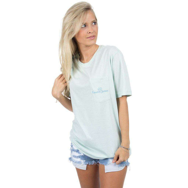 Pawsitively Preppy Tee in Mint by Lauren James - FINAL SALE