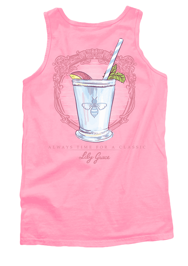 Women's Tee Shirts - Peach Julep Tank Top In Blossom By Lily Grace
