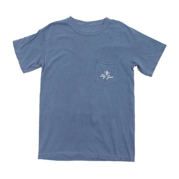 Prep in Your Step Tee in Blue Jean by Lily Grace