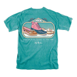 Women's Tee Shirts - Rain Or Shine Classy All The Time Tee In Seafoam By Lily Grace