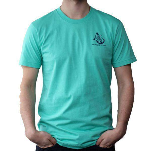 Sailboat Tee in Mint by Anchored Style - FINAL SALE