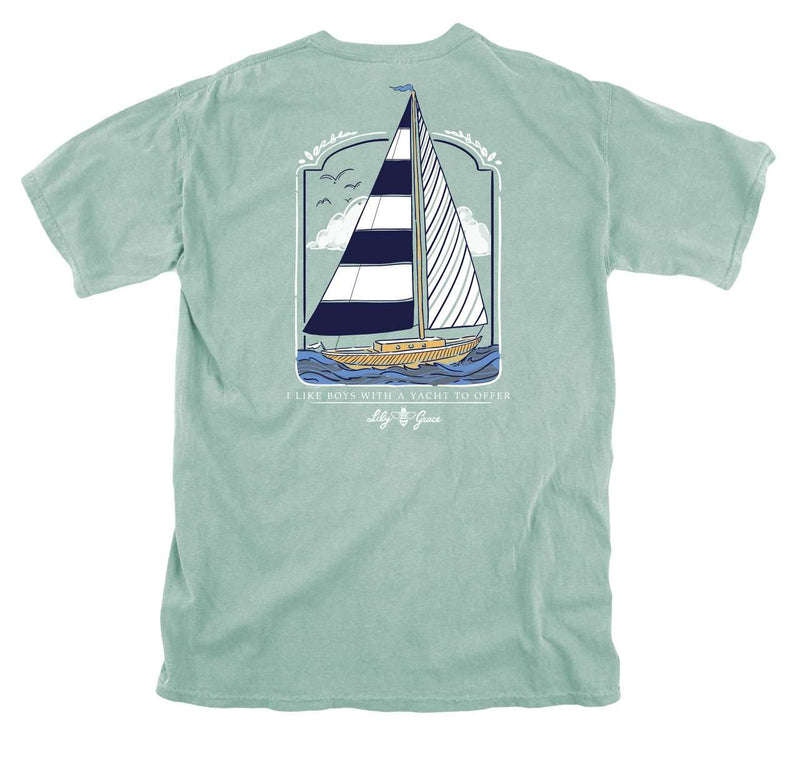 Women's Tee Shirts - Sailing Pocket Tee In Chalky Mint By Lily Grace