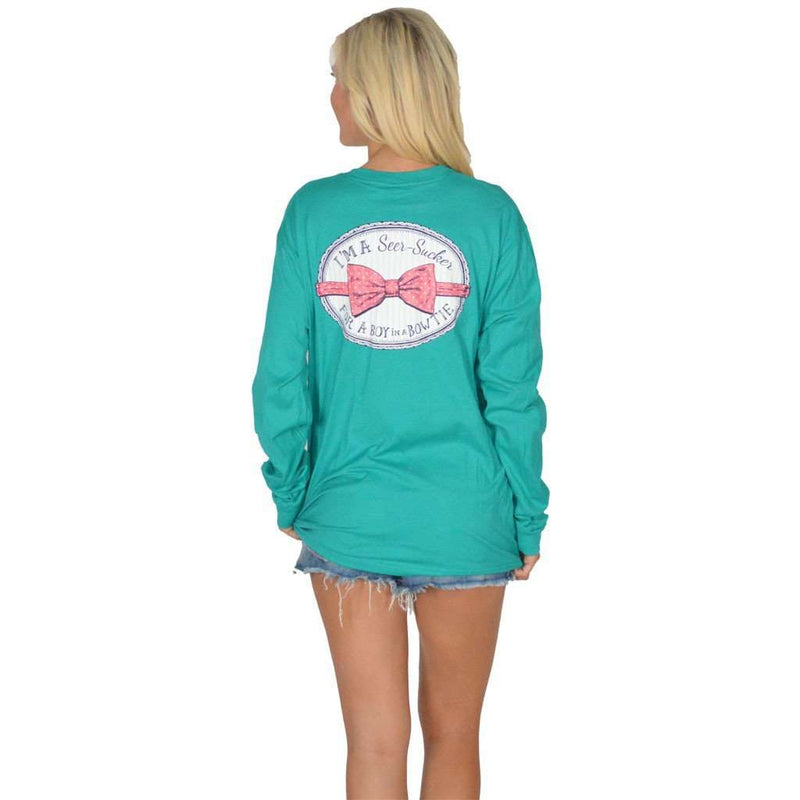Seersucker for a Boy Long Sleeve Tee in Tropical Green by Lauren James - FINAL SALE