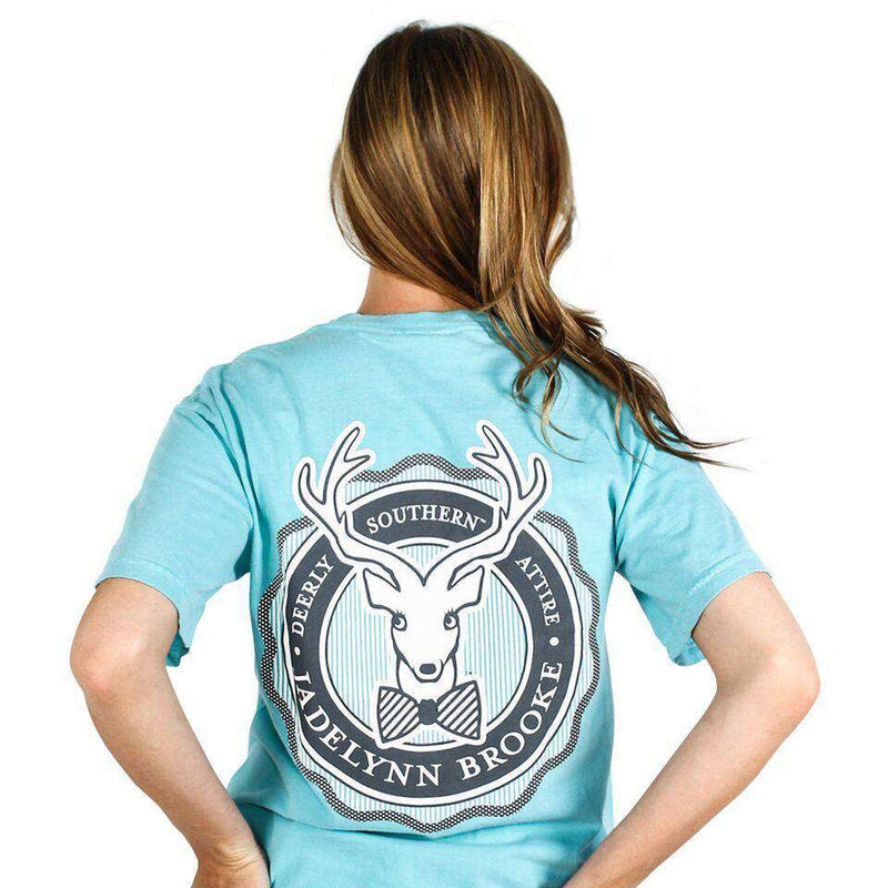 Women's Tee Shirts - Signature Ruffle Logo Tee In Chalky Mint By Jadelynn Brooke