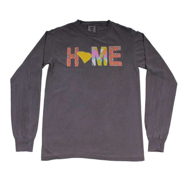 Women's Tee Shirts - South Carolina Home Long Sleeve Tee In Gray By Southern Roots