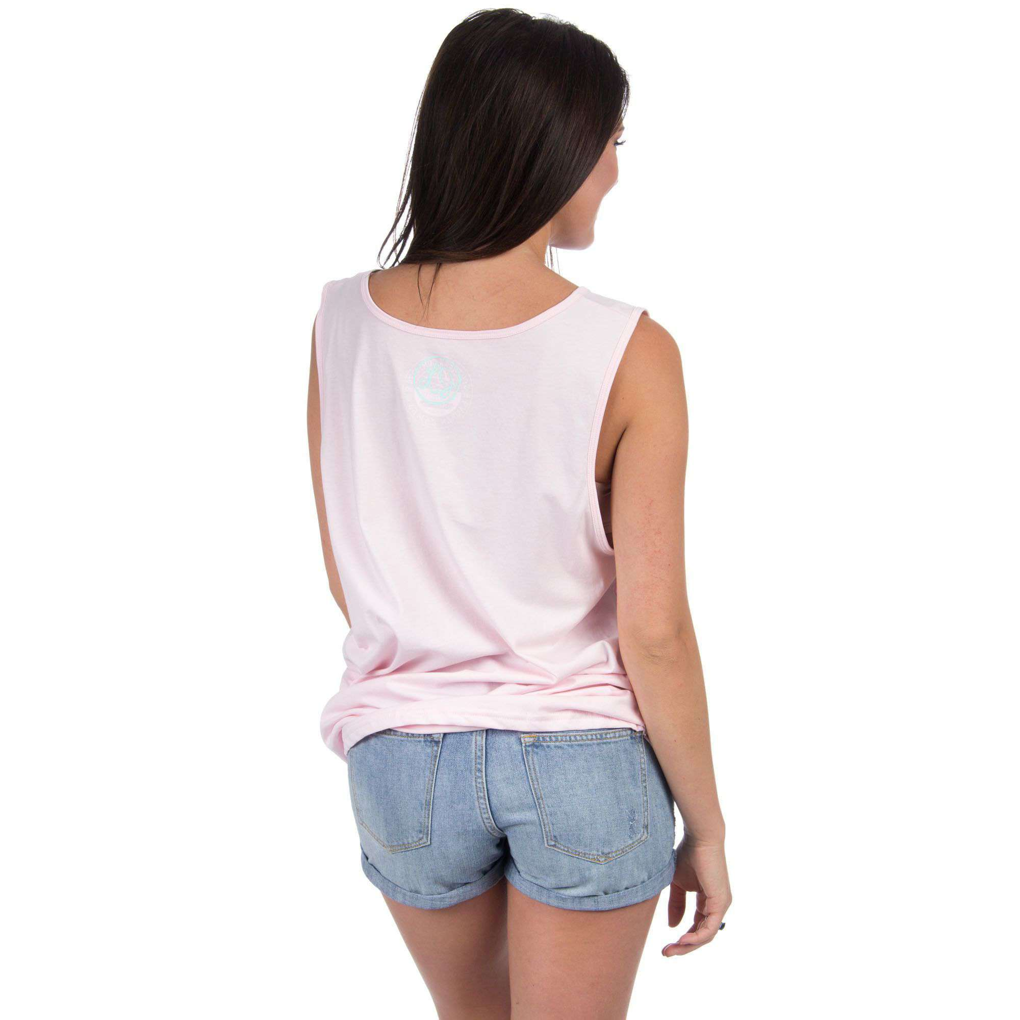 Women's Tee Shirts - South Carolina Lovely State Pocket Tank Top In Pink By Lauren James - FINAL SALE