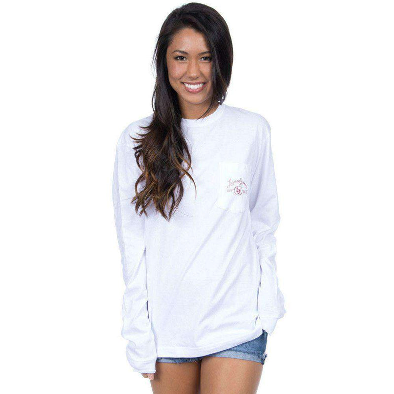 South Carolina Perfect Pairing Long Sleeve Tee in White by Lauren James - FINAL SALE