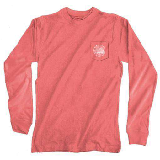 Southern as a Georgia Peach Long Sleeve Tee in Watermelon by Live Oak