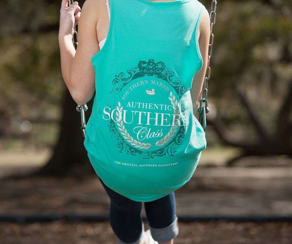 Southern Class Tank in Jockey Green by Southern Marsh