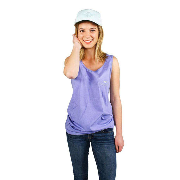 Women's Tee Shirts - Southern Class Tank In Lilac By Southern Marsh