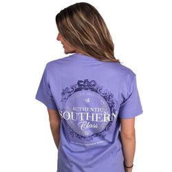 Women's Tee Shirts - Southern Class Tee In Lilac Purple By Southern Marsh