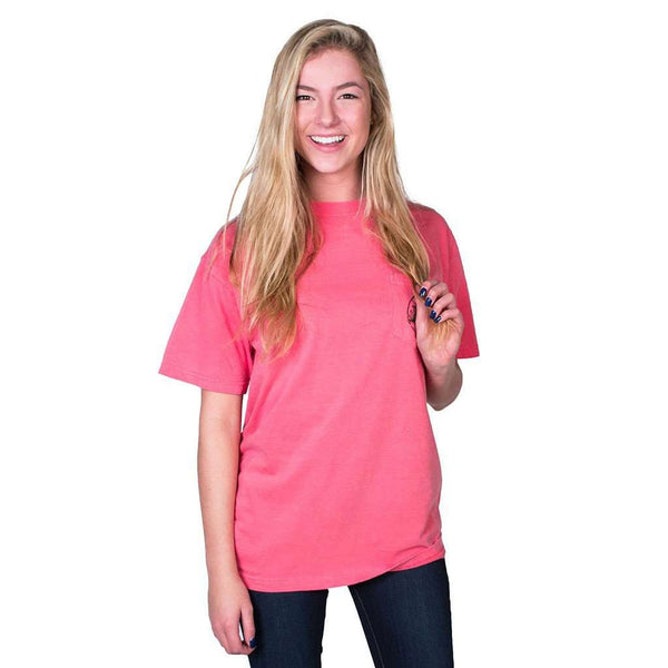 "Southern Essentials ""Beach Weekend"" Short Sleeve Tee in Watermelon by Live Oak"