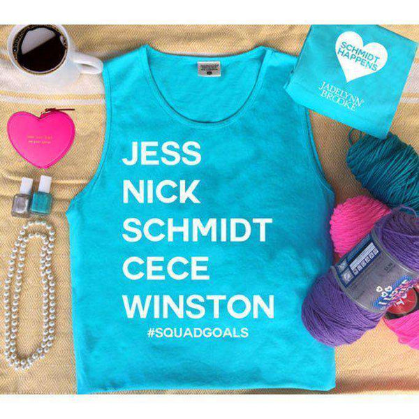 Women's Tee Shirts - # Squad Goals- Schmidt Happens Tank In Popsicle Blue By Jadelynn Brooke - FINAL SALE